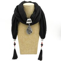Lenços 2021 Declaração de Jóias Multi-Estilo Colar Colar Lenço de Pingente Bohemia Gravatas Feminino Feminino Mulheres Acessórios Hijab Lojas