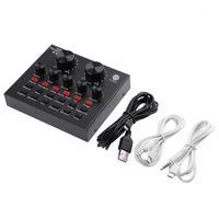 V8 Audio Sound Card Внешняя USB-гарнитура Микрофон Тенсистка Live Broadcast Sing в домашних телефонах для телефона Компьютер TV1