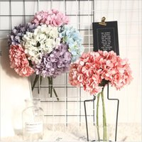 1 Букет шелковые гортензии для домашних украшений аксессуары бытовые продукты искусственные цветы свадебные декоративные поддельные цветы