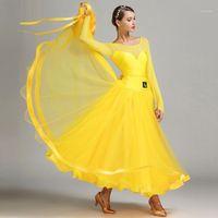 Neue Ankunft Moderne Tanzkleid Weibliche Kostüm Performance Kleidung National Standard Tanz Uniform Performance1