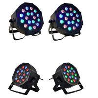 Hot selling 18w 18-LED RGB Auto e Voz Controle Fase Fase Luz Luz Preto Top Grau LEDs Novo e Alta Qualidade PAR Luzes