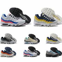 Envío de gota Zapatos al por mayor Men Airs Cushion 95 og Authentic 95s Nuevos zapatos de descuento para caminar 36-46
