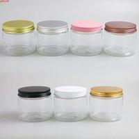 24 x 180g leere klare kosmetische Cremecontainer Gläser 180cc 180ml für Kosmetikverpackung Plastikflaschen mit Metall-Lidshigh-Qualität