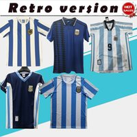 Retro Argentinien Maradona Jersey Fussball Jersey 1986 1978 1994 98 Home Away Collection Maradona Batistuta Football Hemd Auf Lager