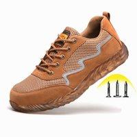 Sıcak Satış-Yıkılmaz Çalışma Ayakkabıları Erkek Çelik Toe Endüstriyel Güvenlik Botları Rahat Nefes Sneakers Delinme Geçirmez Rahat Ayakkabılar