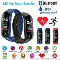 M3 زائد سوار الذكية معدل ضربات القلب ضغط الدم الهاتف SMS Multi-Sports Mode الطقس التلقائي مشرق شاشة MI الفرقة 3 الأساور
