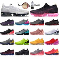 2021 hot Fly 2. 0 Running shoes for men women Black Multicolo...