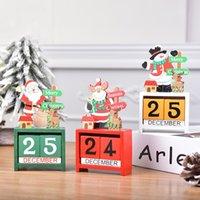 Рождественские украшения Деревянный календарь Представляет креативный DIY Рождественский подарок Мультфильм Мусский Санта Снеговик Мини Стол для WQ60