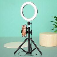 Luz de anillo de selfie dolada con trípode Soporte para la iluminación de belleza de la fotografía de maquillaje en vivo Stream Stream YouTube video reunión en línea