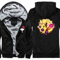 2020 Yeni Varış Eşofman Naruto Moda Adam Kalın Polar Hoodie Ceketler Açık Sıcak Hoodies Tişörtü Mont