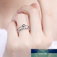 925 sliver sterling gioielli moda semplice design open design doppia foglie anello personalità femminile matrimonio per le donne regalo