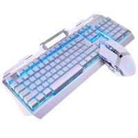 Teclado Mouse Combos Luminous Gaming Set PC Durável Desktop Mecânica USB Computer Computador Jogo LED Backlight Portátil Home Office Work1
