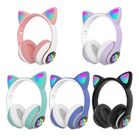 High Qulity RGB Cat Ear Headphones Bluetooth 5. 0 Bass Noise ...