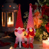 Sevgililer Günü Gnome Peluş Yüzsüz Bebek Süslemeleri Figürinler Çocuk Oyuncak Süslemeleri Lover Hediye Sevgililer Mevcut W-00604