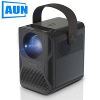 Projektörler AUN Full HD Projektör ET30 Yerli 1920x1080p Çözünürlük 3300 Lümen 3D Taşınabilir Ev Sinema 4K Video Via1
