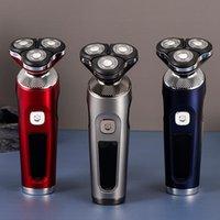 LED Tondeuse бритва три лезвия плавающая бритва различные эффекты мужчины электрические бритвы быстрая зарядка светодиодный интеллектуальный мини водонепроницаемый