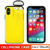 2 in 1 Phone Case Earphone Storage Box For Airpods 1 2 Luxur...