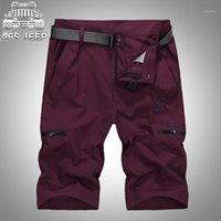 2020 Zhan di Ji Pu PU Casual Shorts Hommes Homme Summer Mens Hommes Shorts Plus Taille L-4XL Plage avec ceinture1