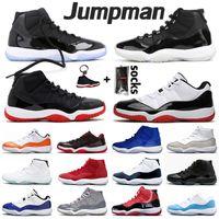 Jumpman Novo 25º Aniversário 11s Hot Mens Womens Basketball Sapatos Low Concord 11 High Bred Xi Space Jam Men Treinadores Sneakers