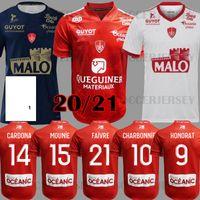 20 21 Mailleot De Foot Brest Stade 29 كرة القدم الفانيلة الصفحة الرئيسية Away Third 2020 2021 Diallo Charbonnier Lasne Cardona Berraud Bain Football Shirts