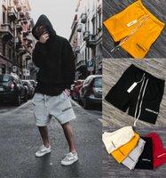 Erkek Şort Streetwear Essentials Yüksek Sokak Şort Erkekler Için Hip Hop Tarzı Stil Streetwear 5 Renkli