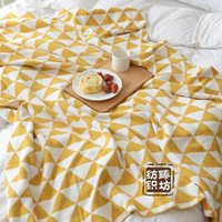 New Knit Line Blanket Double Layer Cotton Wool Blankets Offi...