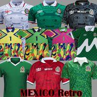 1986 1998 خمر المكسيك الرجعية لكرة القدم الفانيلة بلانكو هيرنانديز بلانكو كامبوس زي 1994 جورج كامبوس حارس مرمى أطقم قميص كرة القدم