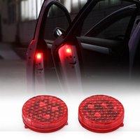 ONYVER 2PCS Auto LED Light Car Door Anti Collisione Magnetica Lampeggiante Lampeggiante Luci Stroboscopiche Lampade di segnalazione Automobili Lampadine Allevamento AVVERTENZA LUTH1