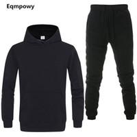 Erkek eşofman 2 takım yeni moda ceket spor giyim erkek eşofman hoodies bahar ve sonbahar marka hoodies pantolon