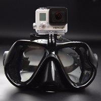 Masques de plongée professionnelle sous-marines Scuba Snorkel Lunettes de natation Pleine Eye à sec pour GoPro Xiaoyi Sjcam Sports Camera