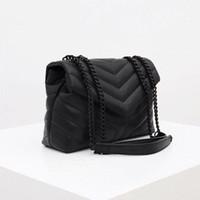 럭셔리 디자이너 핸드백 Loulou Y- 모양의 솔기 가죽 숙 녀 금속 체인 어깨 가방 고품질 플랩 가방 메신저 가방 도매
