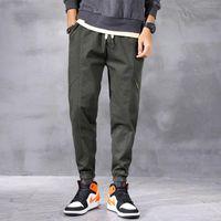 Erkek Jeans LY Tasarımcı Moda Erkekler Gevşek Fit Amry Yeşil Rahat Kargo Pantolon Streetwear Elastik Hip Hop Joggers Geniş Bacak Pantolon