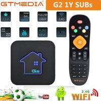 2G RAM + 16G ROM GT Mídia G2 Decodificador de TV Android construído em 2.4g Wi-Fi 4K 1080P LXTREAM M3U Europa Smart TV Box Gtmedia
