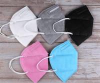 kn95 маска FFP2 маски для лица Factory 95% Фильтр 5 слоя одноразовых масок Нетканых масок пыла ветрозащитного Респиратор Ткань Защитного рта
