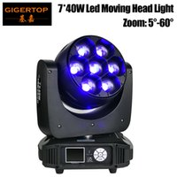 Gigertop 320W 7 x 40W RGBW 4IN1 Led Moving Head Zoom luce DMX512 controllo Os-ram originale 5-60 gradi Zoom 12/17 Canale