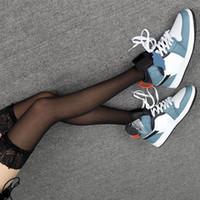 İndirim Jumpman 1 Orta Korkusuz Facetasm Büyük Boy Ayakkabı Beyaz Siyah Çok Gym Bayan Tasarımcı Sneakers Schoenen