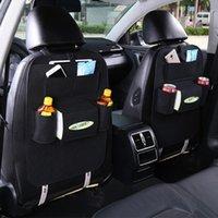 Новый 1 шт. Авто Автомобиль заднего сиденья Сумка для хранения сиденья Организатор Мусорное ведро Сетевой держатель Multi-Pocket Travel Pover для автоматической емкости Pouch Container1
