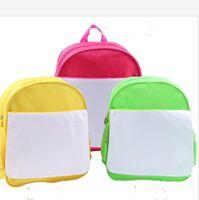 التسامي ظهره diy فارغة حقيبة الكتف الأبيض حقيبة رياض الأطفال حقيبة أطفال كتاب الحزم الحرارية نقل الحرارة طباعة الظهر dhl e121408