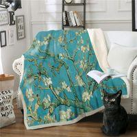 Wallpaper Digital Printing Square Blankets Happy New Year Pattern Adult Kid Double Deck Thickening Plush Sofa Throw Blanket 2020 72xb J2