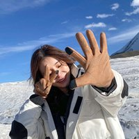 и перчатки для женщин Велоспорт Теплые холодные доказательства в зимних зимних ins ins insile lady сенсорный экран замшевые перчатки