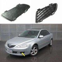2pcs Kit Car New Chrome Front Left + Right Bumper Fog Light Lamp Cover Grille Fit for Mazda6 2003- 2005