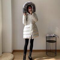 Femmes Hiver Jacket Down Veste Collier De Fourrure De Top Qualité Manteau d'hiver Nouvelles Femmes Hiver Casual Casual Outdoor Chaud Plume De Chilm