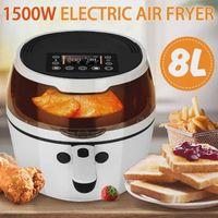 Air fritade 1500w elétrico profundo friter 8L digital lcd touch touch touch timer controle de temperatura alta potência Eletric Frier