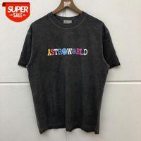 Travis Scott Astroworld T-Shirt Erkek Kadın Moda Toprak T Gömlek # O92Y