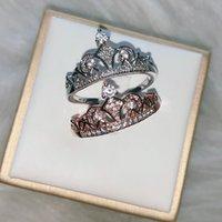 Classico zircone corona corona anello nuziale moda semplice femminile regalo di San Valentino Y1209