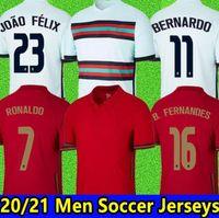 2020 رونالدو جيرسي فريق القومي قميص برناردو رونالدو كرة القدم جيرسي رجل الاطفال كيت بيبي نيفيس جواو فيليكس B.fernandes كرة القدم جيرسي 20/21