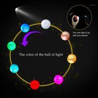 Crestgolf 6PCS / пакет мигающий гольф мяч ночь свечение вспышки свет светлый светодиодный гольф мяч-шесть цвет для вашего выбора1