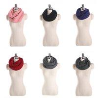 10pcs / Set Femmes Bague Foulards tricotés Street Style Hiver Col Foulard Couleur Solide Couleur épaisse Collier chaud Chauffé Bibshipping