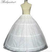 Vente chaude 2020 robe de billes 3 cerceaux de mariée blanche de mariée avec crinoline de mariage de dentelle