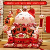 Peut serrer la main manneki neko maison décoration cadeaux de décoration crémique de la fortune chat argent chanceux chat